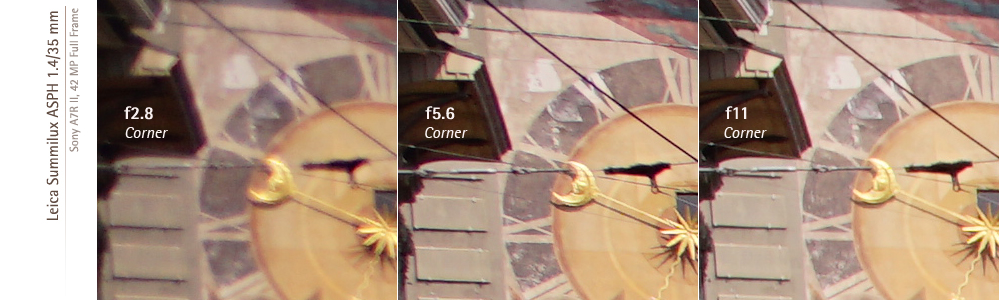 Sony A7RII and Leica Summilux asph 35mm f14 corner