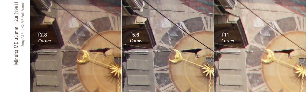 Sony A7RII and Minolta MD-III 35mm f28 corner